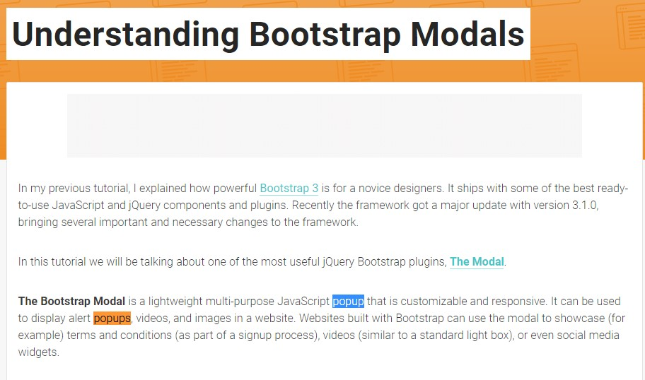 Another  handy article  regarding Bootstrap Modal Popup