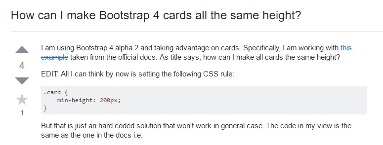 Insights on how can we  develop Bootstrap 4 cards  all the same  height?