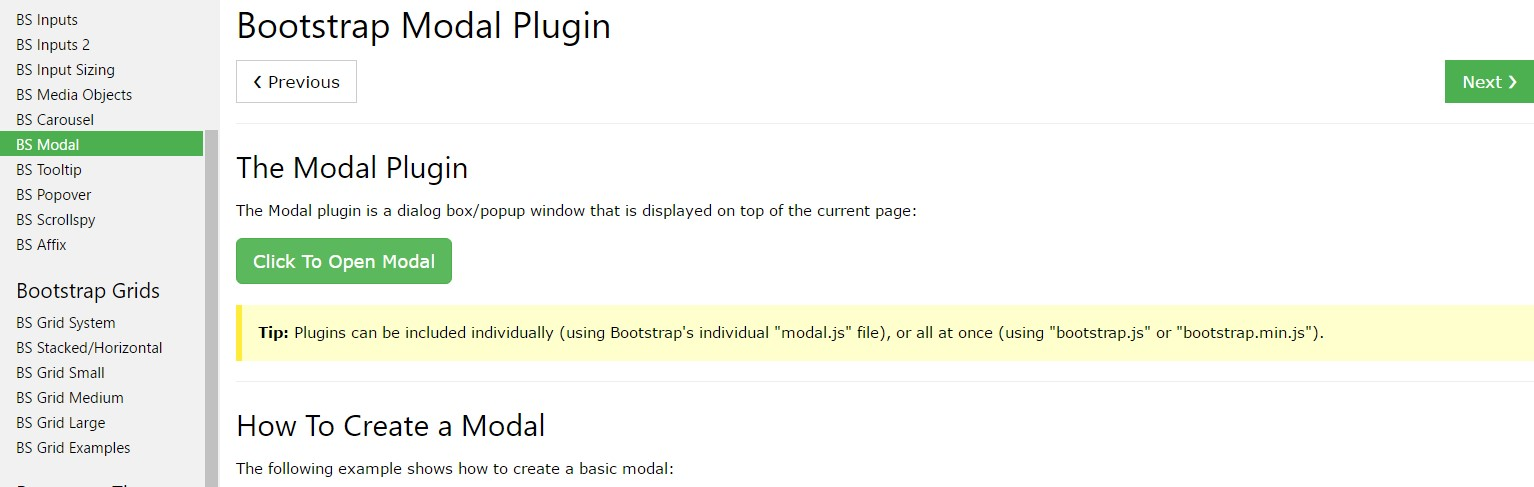 Bootstrap Modal Popup: tutorial  information
