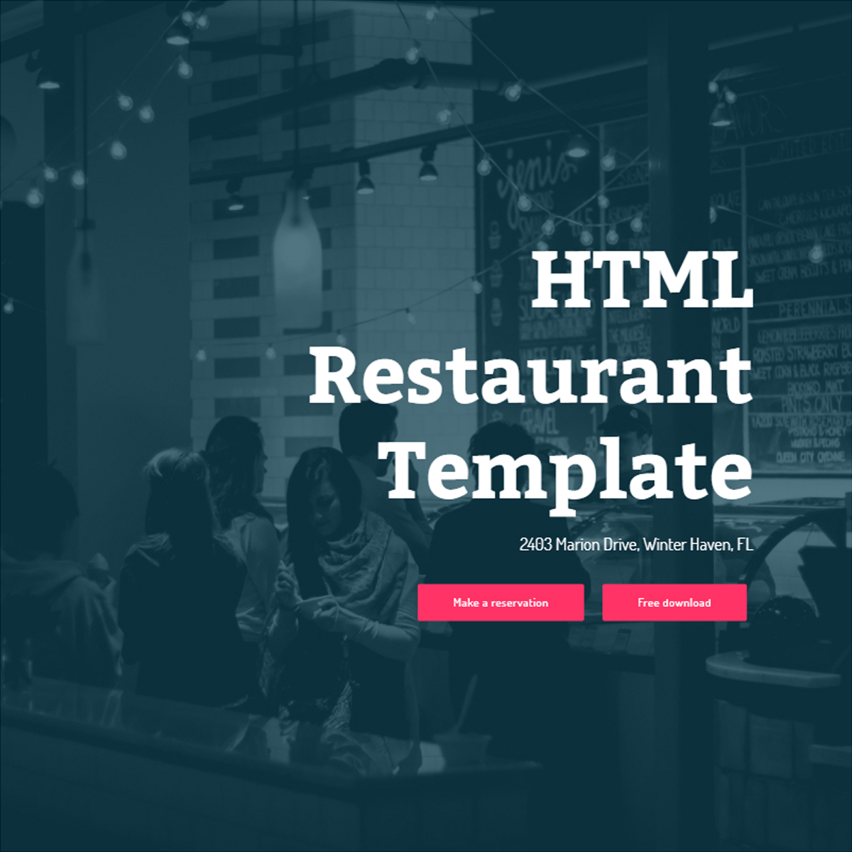 HTML Bootstrap Restaurant Themes