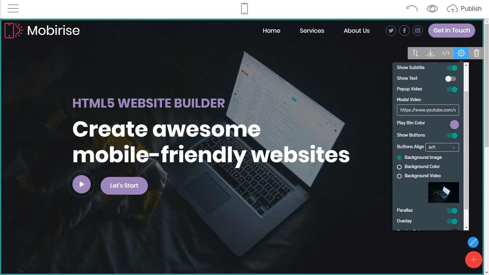 mobile-friendly page templates